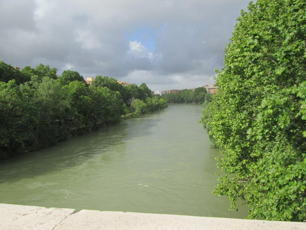The Tiber River. I know, not a good picture, but I wanted to make sure I had a picture of.