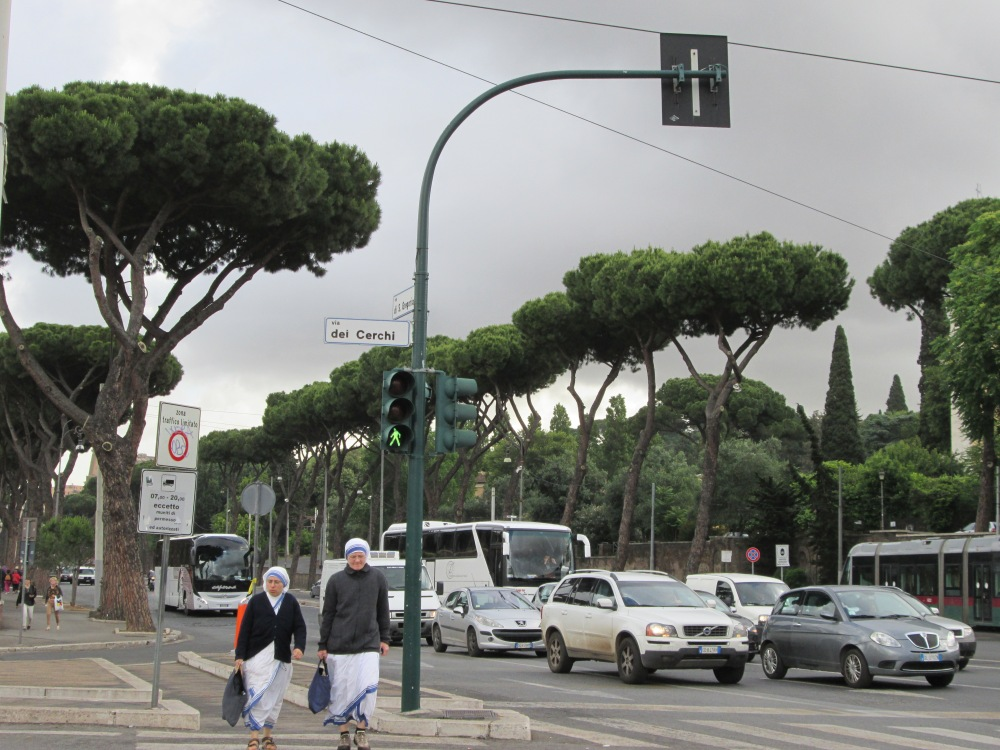 There's priests and nuns everywhere in Rome.  I guess it makes sense, but, uh, really, everywhere.