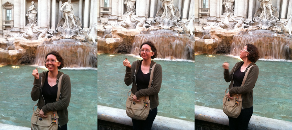Me at the fountain